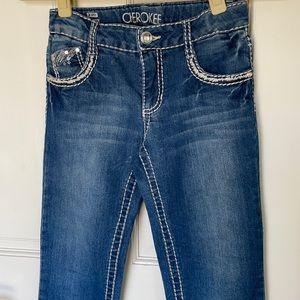 Girls embellished jeans